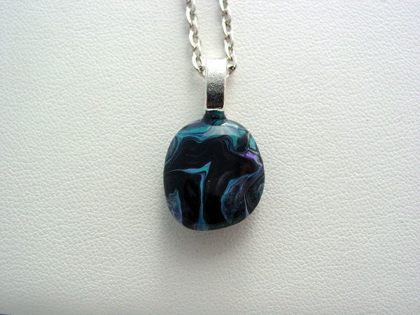 River Rock Jewelry Wearable Fluid Art Necklace Original Alaskan Rock Organic Jewelry Dirty Pour Necklace With Chain (rr24)