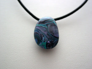 River Rock Jewelry Wearable Fluid Art Necklace Original Alaskan Rock Organic Jewelry Dirty Pour Necklace With Chain (RR7)