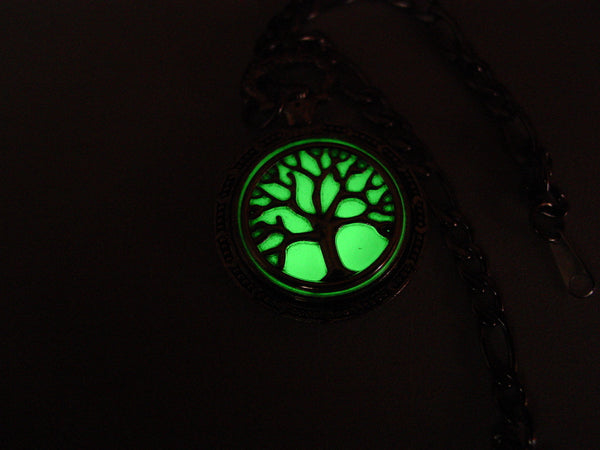 Tree Of Live Charm Bracelet Green Glow In The Dark Family Tree Of Life Charm Bracelet