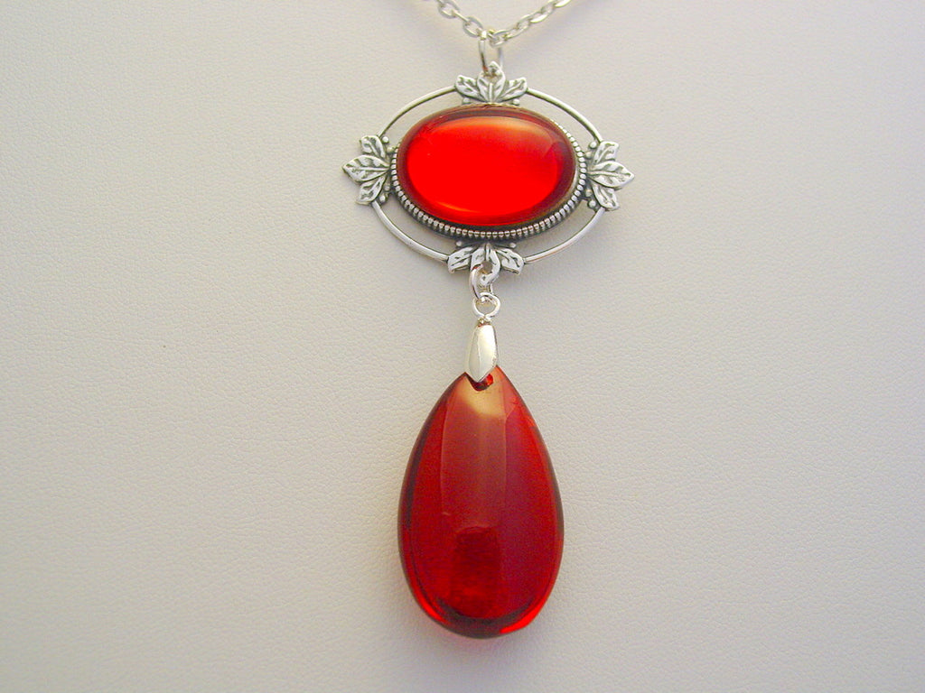 Witches Of East End Ruby Red Silver Oxidized Finish 9th Life Wendy's Ruby Red Necklace Witches of East End
