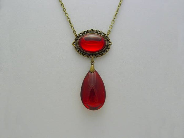 Witches of East End 9th Life Wendy's Ruby Red Crystal Necklace