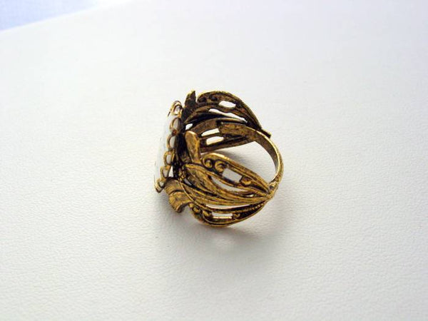 Hunger Games You Love Me Real Or Not Real Antique Gold Finish Ring Last One!