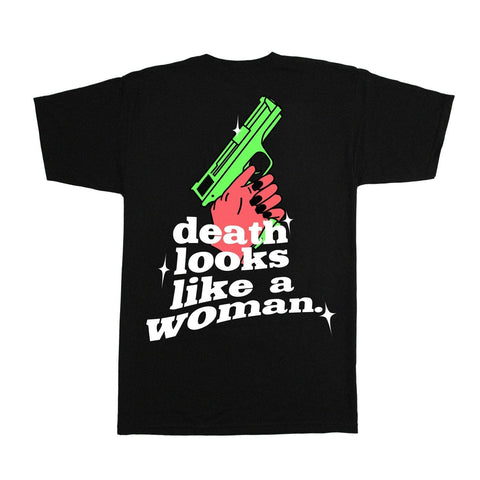 DEATH LOOKS LIKE A WOMAN - T-SHIRT NOIR