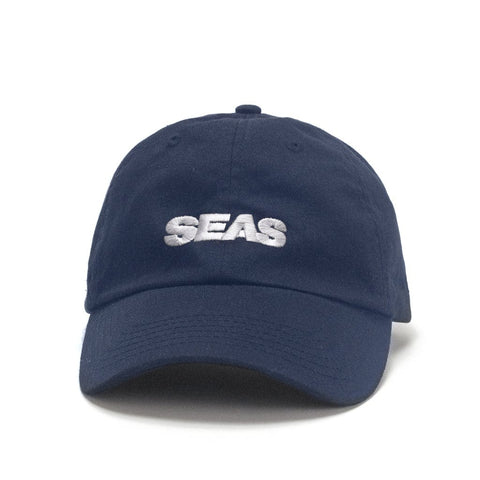CAP SEAS NAVY — WHITE EMBROIDERY