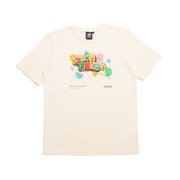 SPACE FLAKES®️ - T-SHIRT BLANC CREME