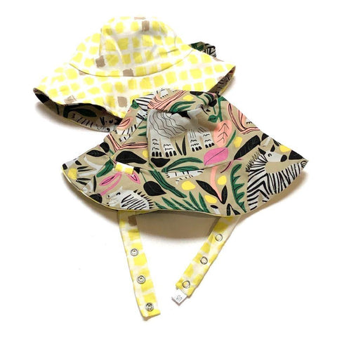 Organic Reversible Bucket Sun Hat - Savannah