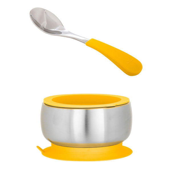 Stainless Steel Baby Suction Bowl & Spoon with Lid