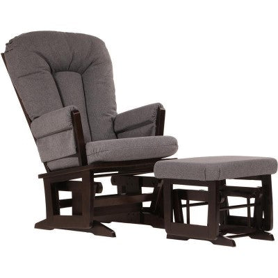 Wood Nursing Glider/Recliner with Ottoman (Model 64B)