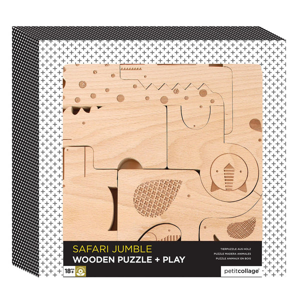 Puzzle + Play Wooden Animal Set