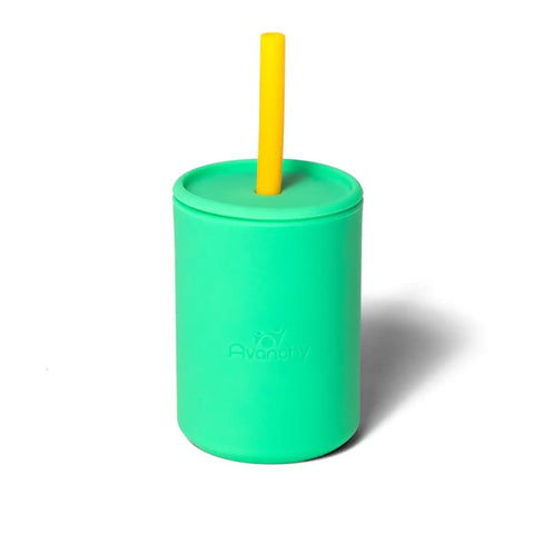 Avanchy La Petit Silicone Transition Cup in Green