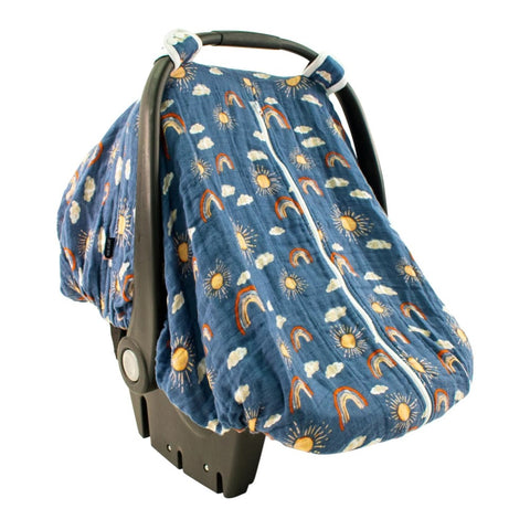 Breathable Muslin Car Seat Cover - Hello Sunshine