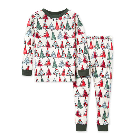 Burt's Bees O Christmas Tree Organic Toddler Holiday Family Pajamas