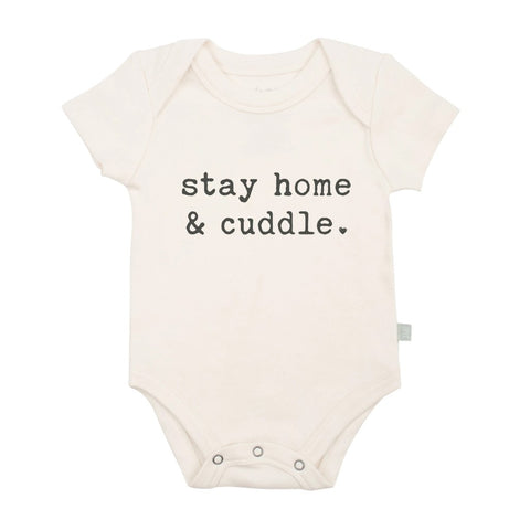 Stay Home and Cuddle Organic Graphic Bodysuit