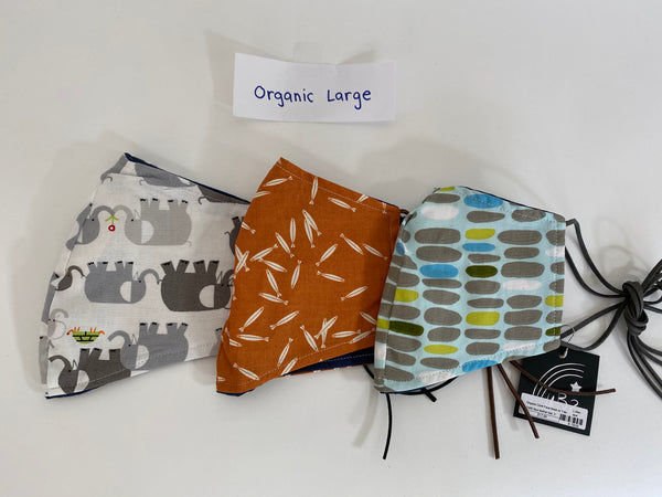 Organic Cloth Face Mask with Ties