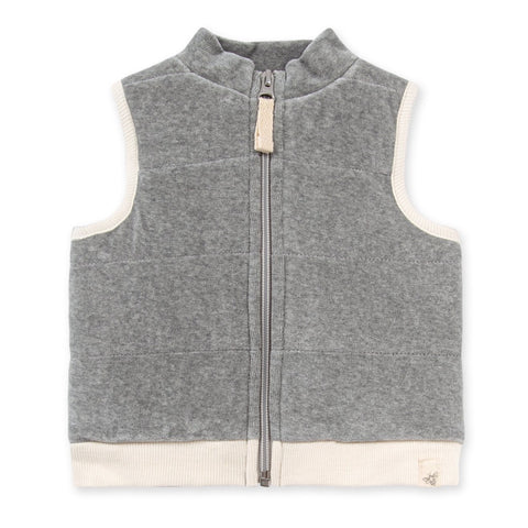 Quilted Velour Vest Made with Organic Cotton