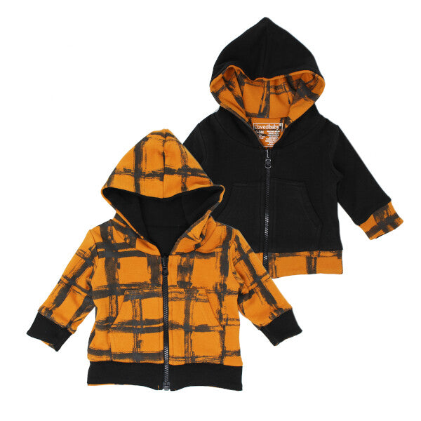 NEW! Little Rebel Collection Organic Reversible Zipper Hoodie