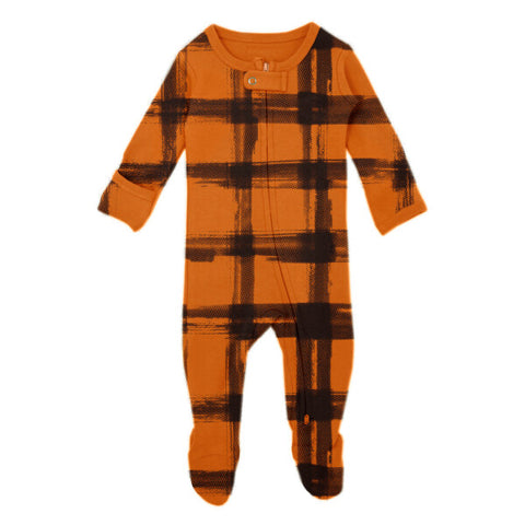 Little Rebel Collection Organic Zipper Footie