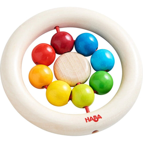 Rainbow Balls Wooden Clutching Toy