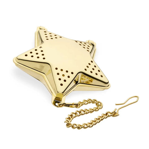Pinky Up Gold Star-Shaped Tea Infuser