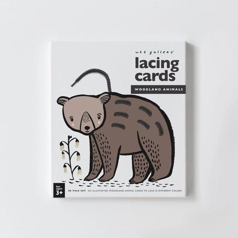Woodland Animals Lacing Cards