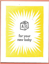 ABC New Baby Card