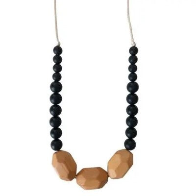 The Austin Silicone & Beech Wood Teething Necklace