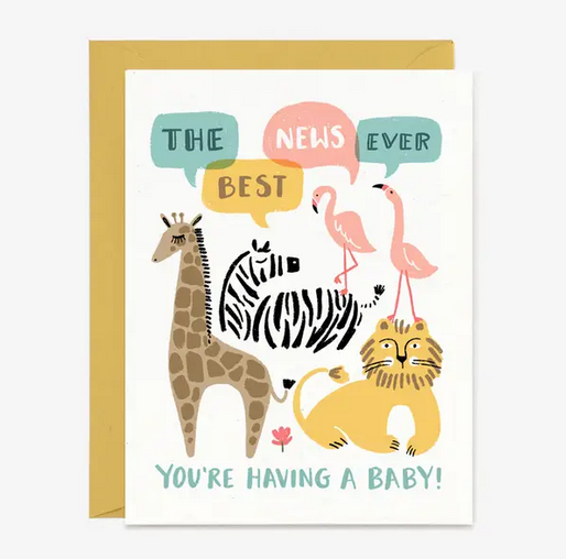 Best News Ever New Baby Card