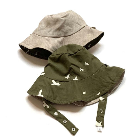 Organic Reversible Bucket Sun Hat - Sparrow