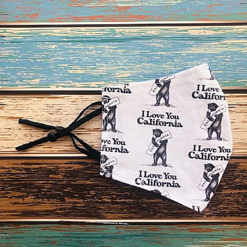 I Love You California Unisex Adult Cloth Face Mask