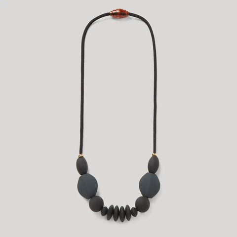 Signature Teething Necklace - Charcoal
