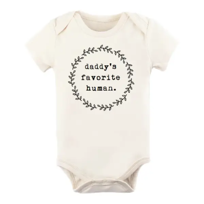 Organic Daddy's Favorite Human Short-Sleeved Bodysuit
