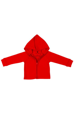 Organic Zipper Hoodie - Red Rover (Dogs Collection)
