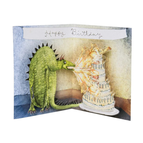 Dragon Birthday Pop Up Card