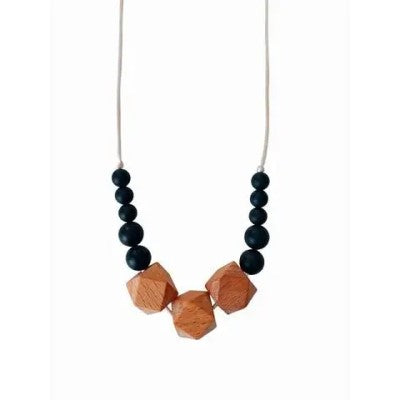 The Easton Silicone & Beech Wood Teething Necklace