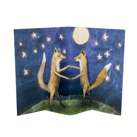 Fox Dance Pop Up Card