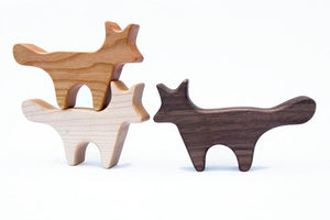 Fox Handmade Wood Shape Rattle