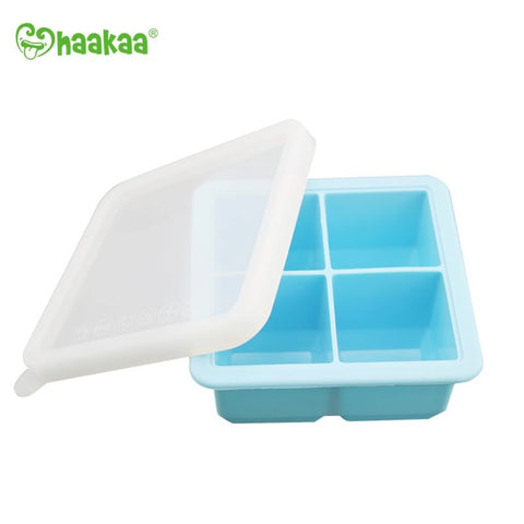 Silicone Baby Food and Breast Milk Freezer Tray with Lid