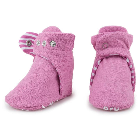 Fleece Baby Booties - Cotton Candy