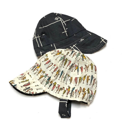 Organic Reversible EcoCap Sun Hat - Gone Fishin'