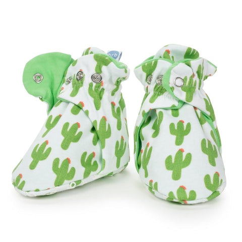 Organic Cotton Baby Booties  - Cactus