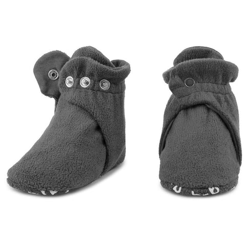 Fleece Baby Booties - Slate