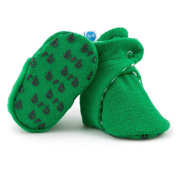 Fleece Baby Booties - Wintergreen