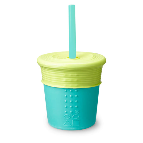 Silikids Silicone Cup with Straw Top