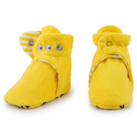 Fleece Baby Booties - Lemonade