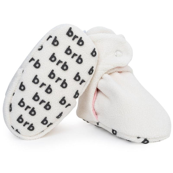 Fleece Baby Booties - Cupcake