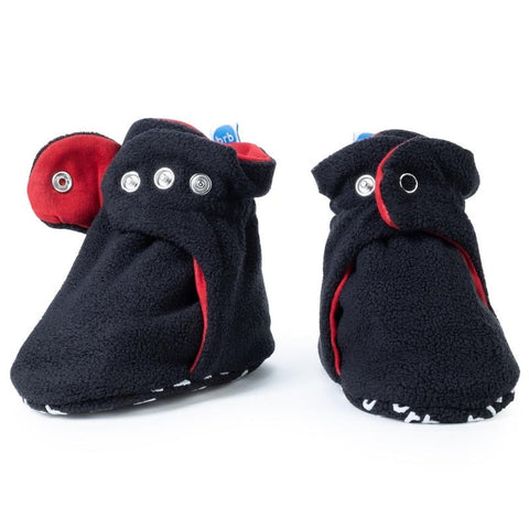 Fleece Baby Booties - Panther