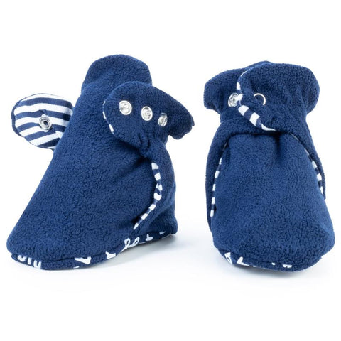 Fleece Baby Booties - Anchor Blue