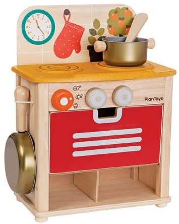 Wooden Pretend Play Kitchen Set