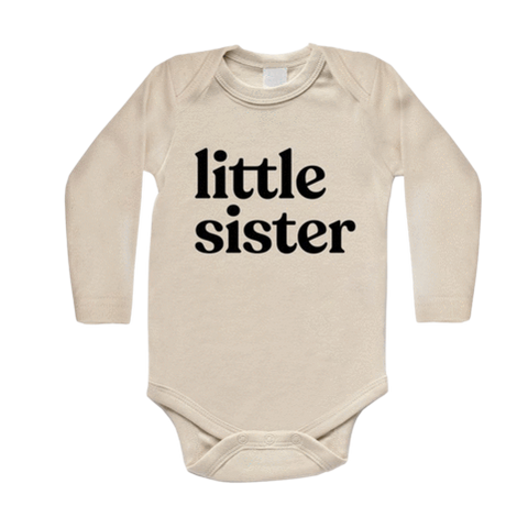 Organic Little Sister Long-Sleeved Baby Bodysuit