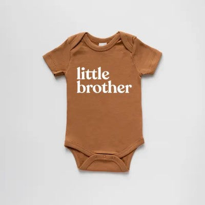 Organic Little Brother Short-Sleeved Baby Bodysuit
